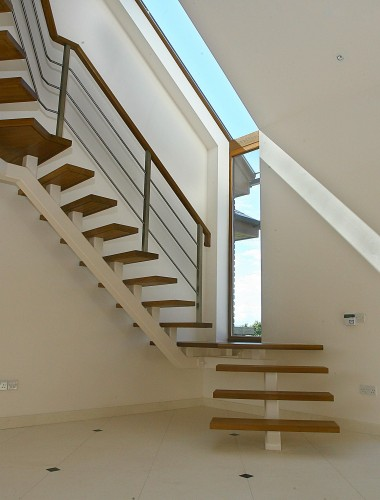 Glider Stairs Design - Contemporary style central spine stair staircases design