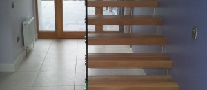 Narrow glass balustrade stairs - using Cantilever stairs to maximum effect