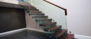 Clear toughened glass balustrades