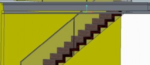 3-D Drawing Example of our Corbellian staircase