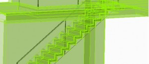Stairs drawing including immediate environment