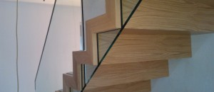 Walnut Step Corbellian Staircase from Signature Stairs