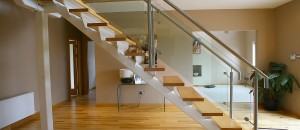 Contemporary stairs fin-plate support