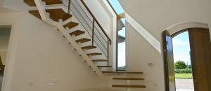 Glider modern stairs box support