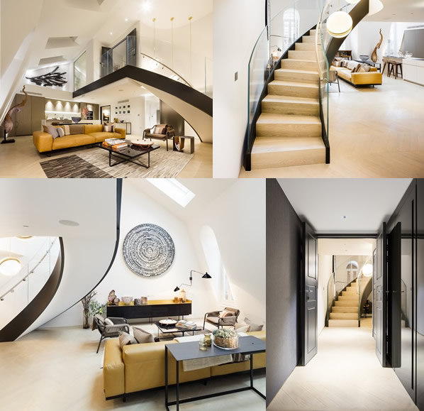 Signature Stairs - curved staircase